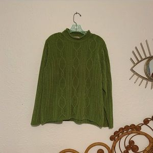 Vintage chenille cable knit jumper